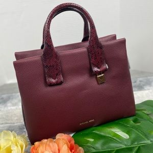 Michael Kors Large Rollins satchel purse oxblood
